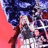 Hatari, representante de Islandia, en la Gran Final de Eurovisión 2019