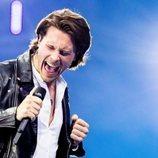 Victor Crone, representante de Estonia, en la Gran Final de Eurovisión 2019