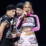 Zena, representante de Bielorrusia, en la Gran Final de Eurovisión 2019