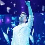 Sergey Lazarev, representante de Rusia, en la Gran Final de Eurovisión 2019