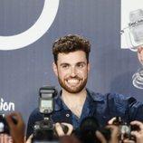 Duncan Laurence, en la rueda de prensa tras ganar Eurovisión 2019