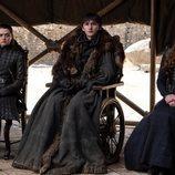 Arya, Bran y Sansa Stark en el 8x06 de 'Juego de Tronos'