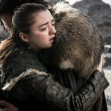 Arya Stark abraza a Jon Snow durante el 8x06 de 'Juego de Tronos'