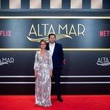 Teresa Fernández-Valdés y Ramón Campos, en el photocall de 'Alta mar'