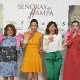 Mamen García, Toni Acosta, Malena Alterio y Nuria Herrero, en la presentacion de 'Señoras del (h)AMPA'