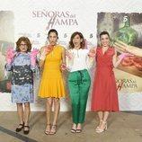 Las protagonistas de 'Señoras del (h)AMPA' en la presentación de la serie