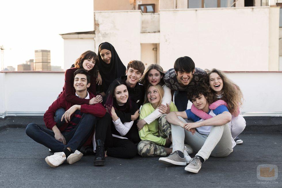 Los jóvenes protagonistas de 'Skam España'