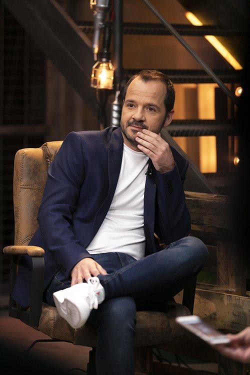 Ángel Martín, en el plató de 'Dar cera, pulir #0'