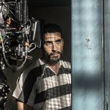 Miguel Ángel Silvestre grabando una escena de 'En el corredor de la muerte'