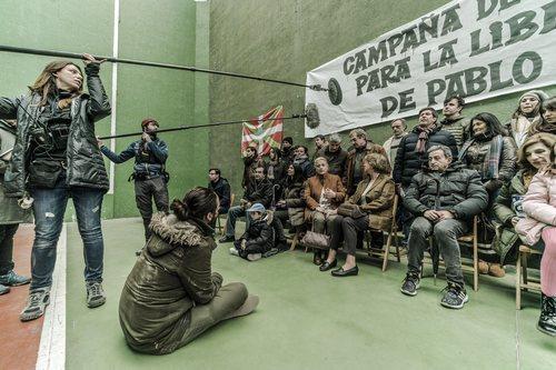 'En el corredor de la muerte' graba una escena en un frontón