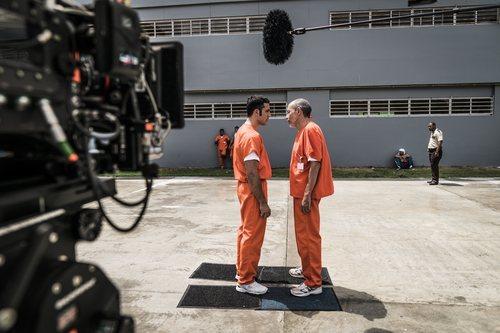 Miguel Ángel enfrentado a otro preso en 'En el corredor de la muerte'