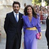 Nuria Roca y Juan del Val en la boda de Pilar Rubio y Sergio Ramos