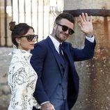 Victoria y David Beckham en la boda de Pilar Rubio y Sergio Ramos