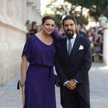 Niña Pastori en la boda de Pilar Rubio y Sergio Ramos