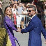 Lorena Gómez junto a René Ramos en la boda de Pilar Rubio y Sergio Ramos