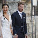 Sergio Ramos y Pilar Rubio, posan juntos en su boda