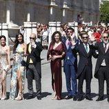 Parte del equipo de 'El hormiguero' en la boda de Pilar Rubio y Sergio Ramos