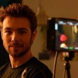 Carlos Cuevas en la grabación de 'Merlí: Sapere Aude'