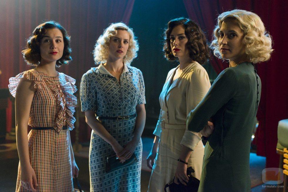 Marga, Ángeles, Lidia y Carlota en la cuarta temporada de 'Las chicas del cable'