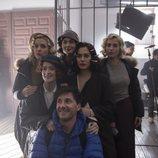 Las protagonistas de 'Las chicas del cable' en el rodaje de la cuarta temporada