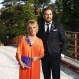Lydia Lozano y Raúl Prieto en la boda de Belén Esteban y Miguel