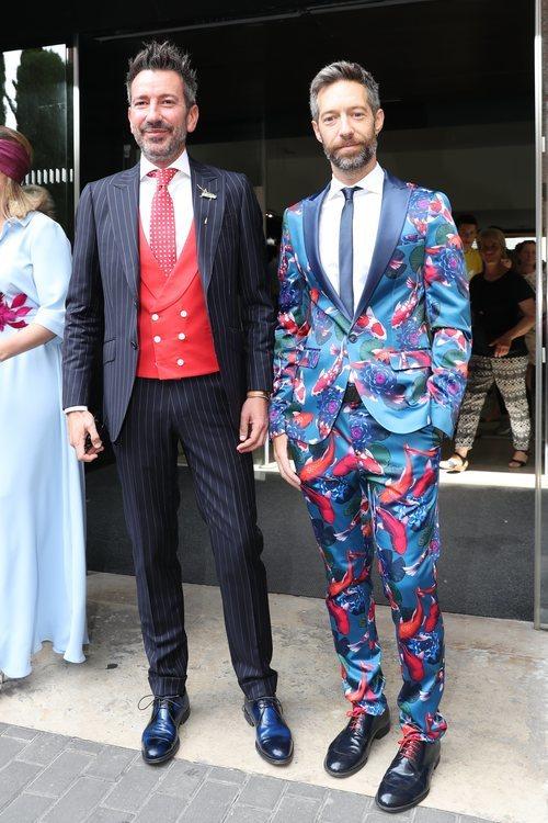 David Valldeperas y Xoan Viqueira en la boda de Belén Esteban y Miguel