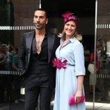 Manuel Zamorano y Cristina Soria en la boda de Belén Esteban y Miguel