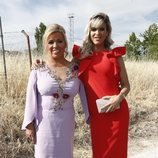 Carmen Borrego e Ylenia Padilla en la boda de Belén Esteban y Miguel