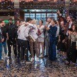Los concursantes y el jurado de 'MasterChef 7' celebran la victoria de Aleix