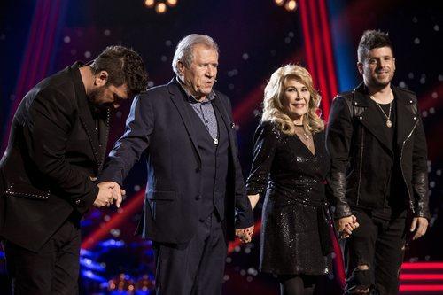 Antonio Orozco, Juan Mena, Helena Bianco y Pablo López en la final de 'La Voz Senior'