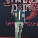 Caleb McLaughlin, en la premiere de la tercera temporada de 'Stranger Things'