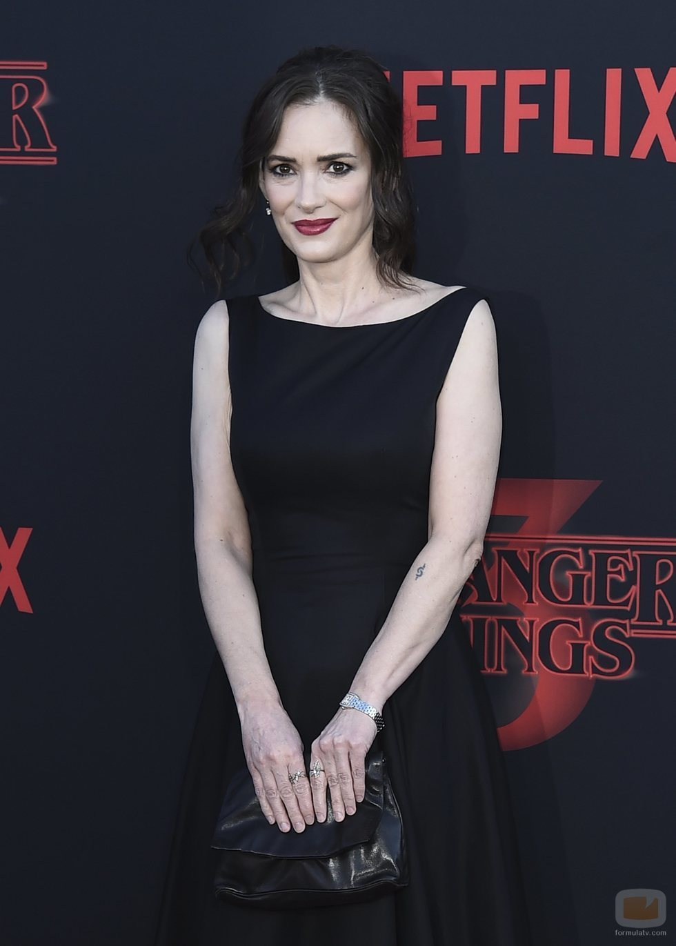 Winona Ryder, en la premiere de la tercera temporada de 'Stranger Things'