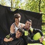 Ángel Lara, Josh Huerta ('Tu cara me suena') y Antonio Fago posando juntos