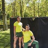 Los bailarines Raymond Naval ('Fama a bailar') y Antonio Fago posan muy sexys