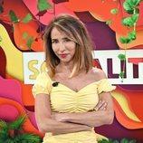 María Patiño, sonriente en unas fotos promocionales de 'Socialité'