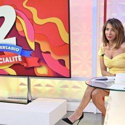 María Patiño posando por el segundo aniversario de 'Socialité'
