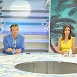 Joaquín Prat y Patricia Pardo en el plató de 'El Programa del verano'