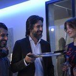 Marc Vigil, Hugo Silva y Leonor Watling en el rodaje de 'Nasdrovia'