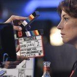 Leonor Watling junto a una claqueta en la grabación de 'Nasdrovia'