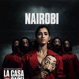 Nairobi, en un póster promocional de la tercera parte de 'La Casa de Papel'