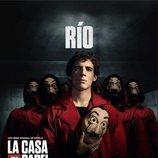 Río, en un póster promocional de la tercera parte de 'La Casa de Papel'