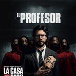El Profesor, en un póster promocional de la tercera parte de 'La Casa de Papel'