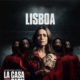 Lisboa, en un póster promocional de la tercera parte de 'La Casa de Papel'