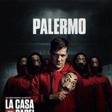 Palermo, en un póster promocional de la tercera parte de 'La Casa de Papel'
