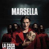 Marsella, en un póster promocional de la tercera parte de 'La Casa de Papel'