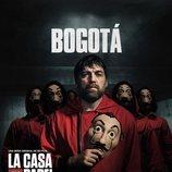 Bogotá, en un póster promocional de la tercera parte de 'La Casa de Papel'