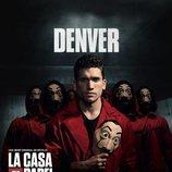 Denver, en un póster promocional de la tercera parte de 'La Casa de Papel'