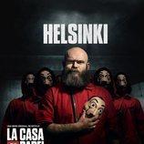 Helsinki, en un póster promocional de la tercera parte de 'La Casa de Papel'