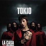 Tokio, en un póster promocional de la tercera parte de 'La Casa de Papel'