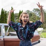 Millie Bobby Brown en el rodaje de la tercera temporada de 'Stranger Things'